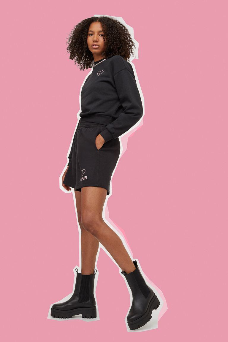 Mini Skirt - Black/Pinstripes - Women | H&M KR 4